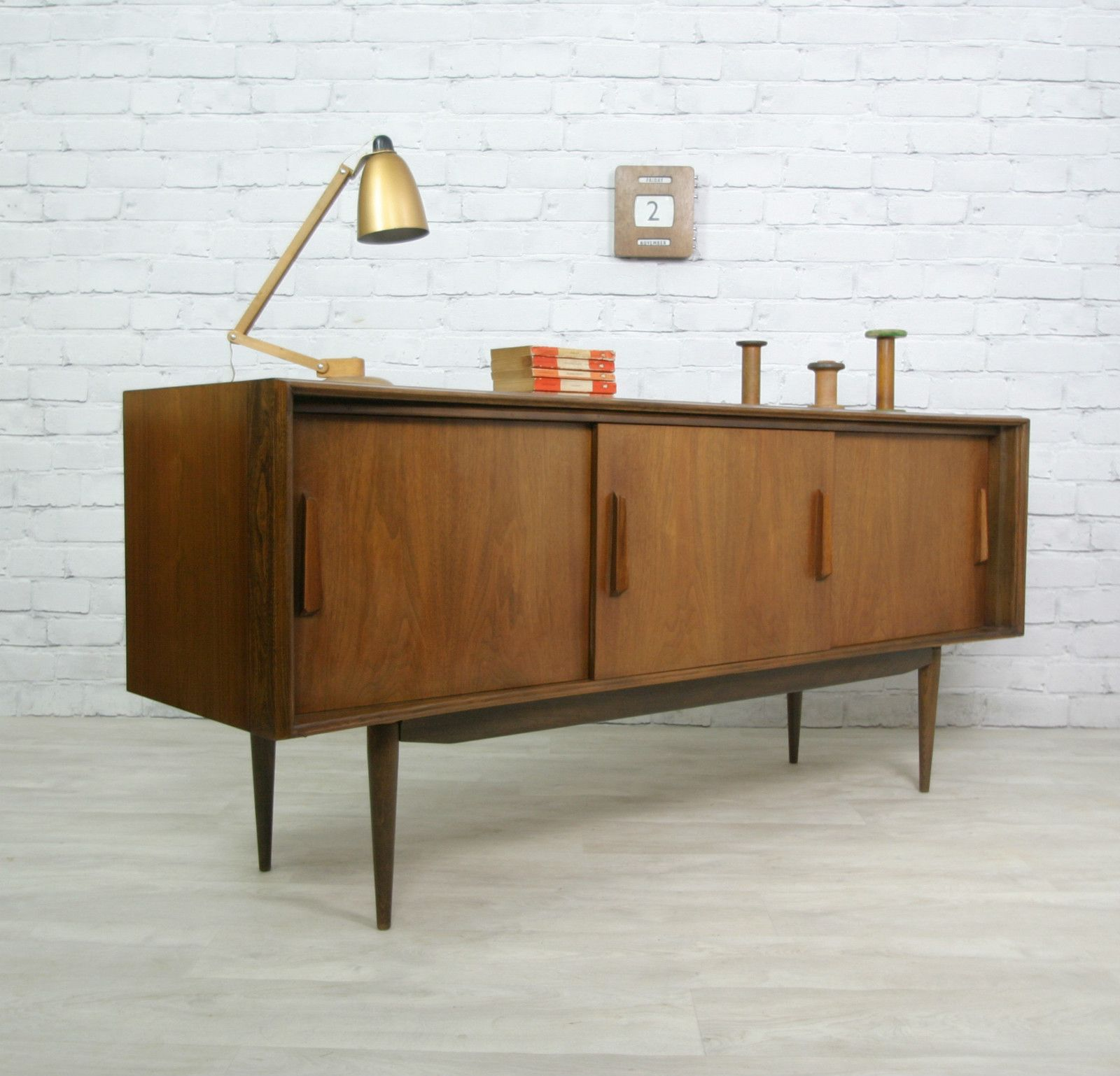 retro vintage teak mid century danish style sideboard tv. Black Bedroom Furniture Sets. Home Design Ideas
