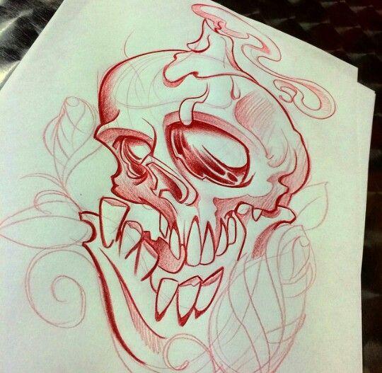Skull candle smoke | Stuff to draw | Pinterest