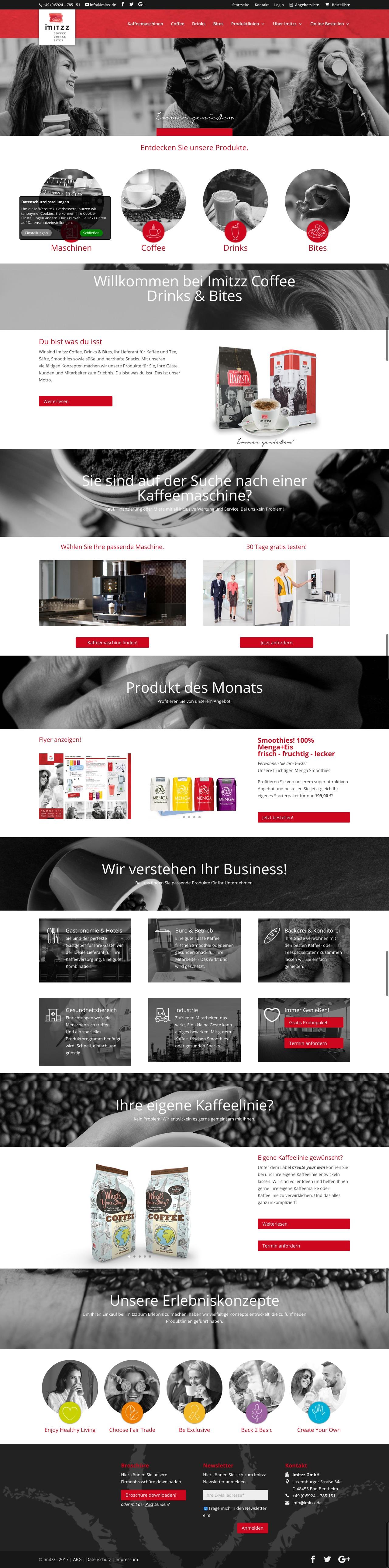 Imitzz Coffee Drinks & Bites   Divi WordPress Theme Inspiration ...