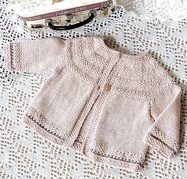 6e1b918b71a2 Round yoke and Moss stitch Cardigan pattern by OGE Knitwear Designs ...