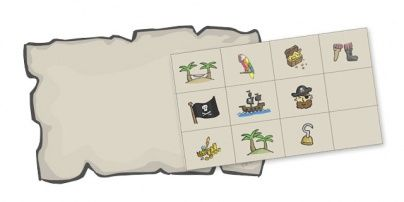 cut and paste fine motor skills pirate map activity unit study pirate adventures map. Black Bedroom Furniture Sets. Home Design Ideas
