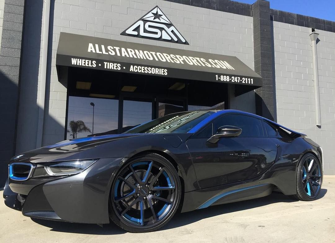 Bmw I8 On Custom Painted Rotiform 22 Staggered Wheels 888 247