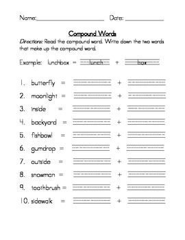 Compound words worksheets teaching language arts pinterest compound words worksheets ibookread PDF