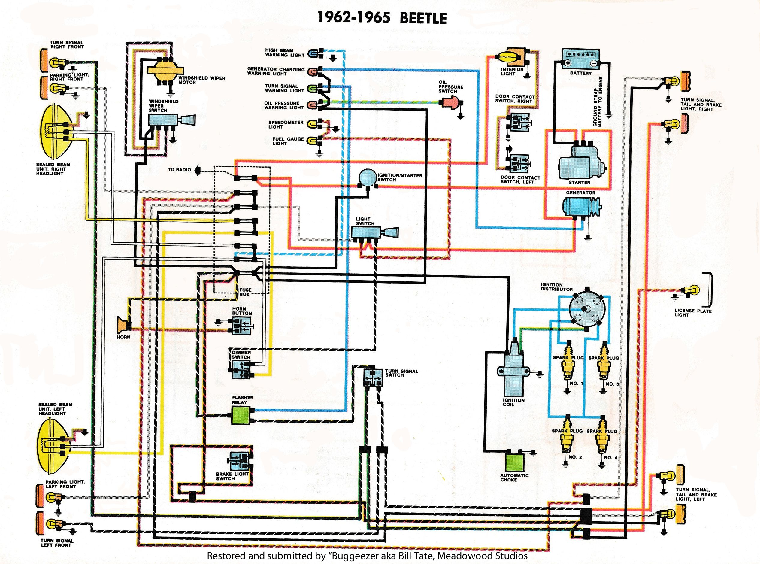 Thesamba Com Type 1 Wiring Diagrams And 1969 Vw Beetle Diagram Kever Vw Kevers