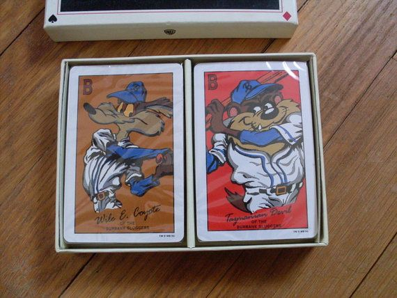 Looney Tunes Playing cards Baseball 1993 by AngelasArtistic, $14.99