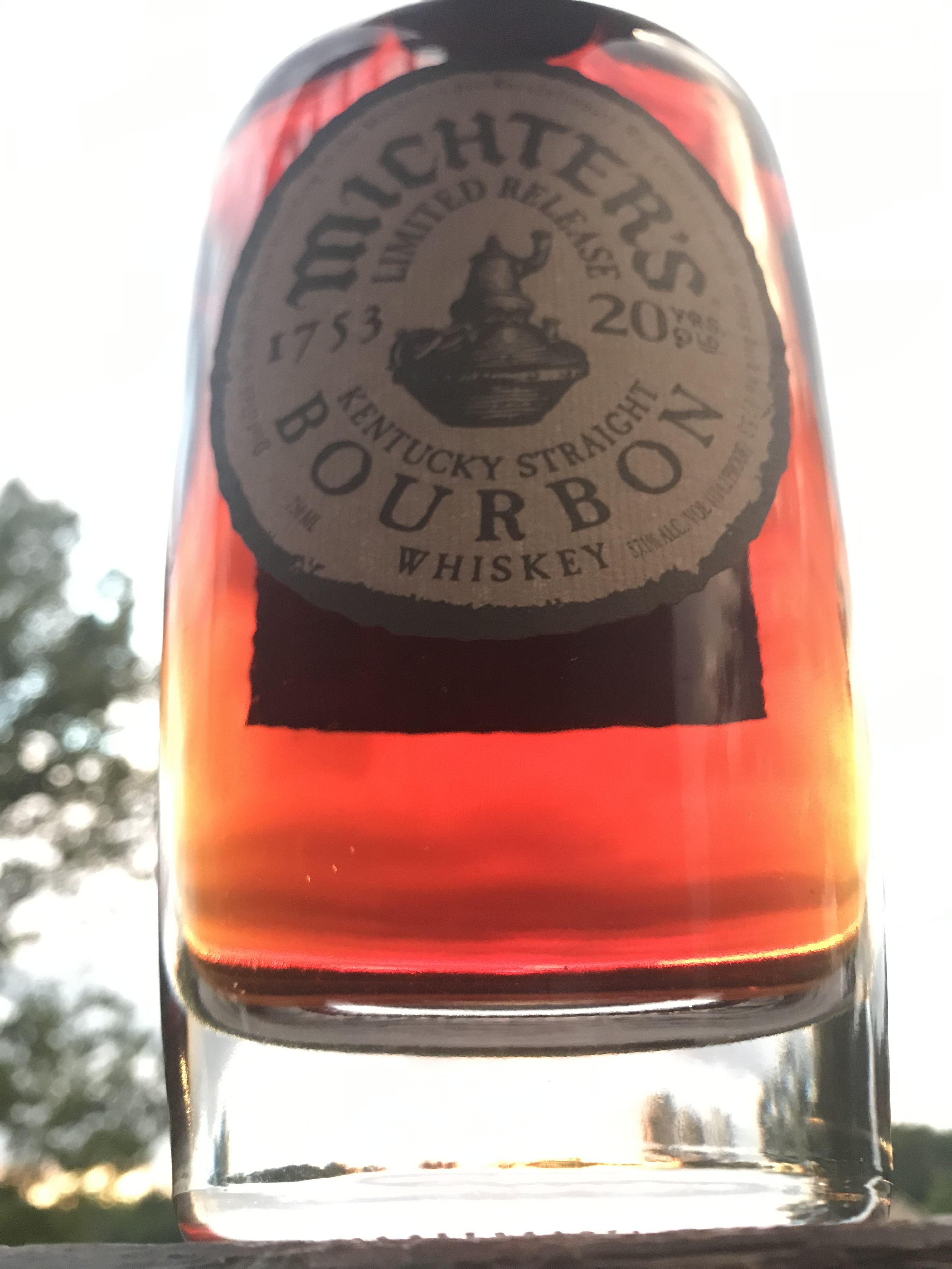Bourbon 2016 Michter S 20 Whiskey Bottle Wine Bottle Rose Wine Bottle