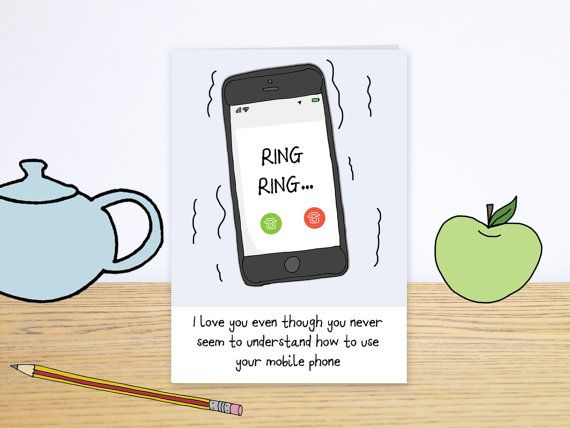 Modern day love is card funny valentines day card funny mobile phone greeting card funny cell phone card texting birthday card funny card for mum or dad ring ring card bookmarktalkfo Image collections