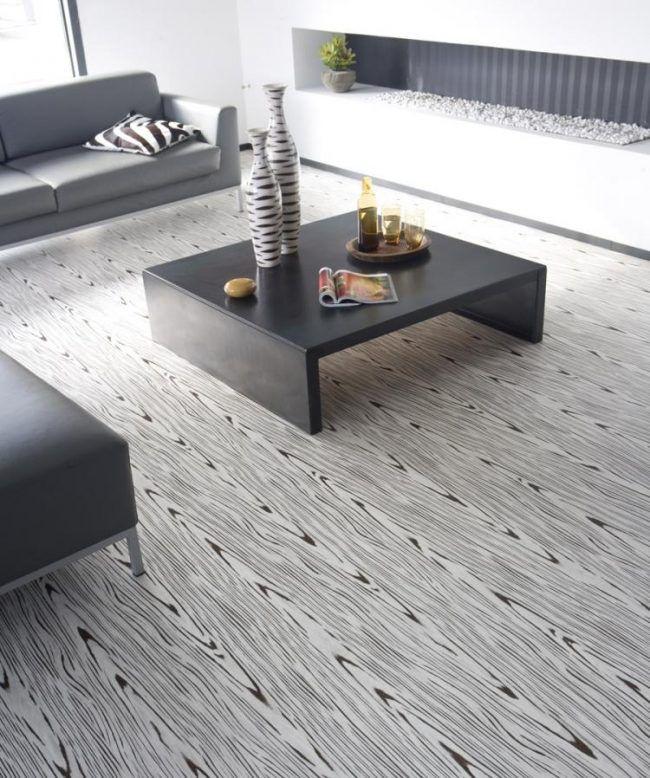 vinyl-boden-belag-verlegen-schwarz-weiss-modern-wohnzimmer-couch - wohnzimmer couch schwarz