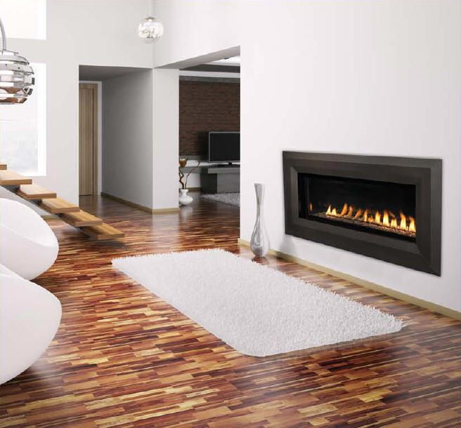 I like this ventless gas with glass rocks, modern fireplace. - I Like This Ventless Gas With Glass Rocks, Modern Fireplace