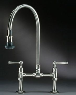 Jaclo 1015 Steam Valve Original Bridge Faucet With Pull Off Spray Steam Valve Kitchen Faucets Pull Down Pull Out Kitchen Faucet