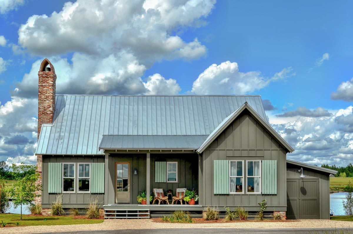 Plan 130030lls Charming 2 Bed Cottage With Screened Porch Building Plans House Cottage Plan House With Porch