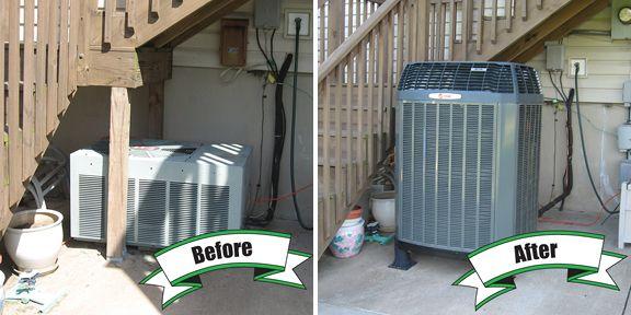 Trane Xl16i Heat Pump Holtzopleheatingandairconditioning Beforeandafter Air Conditioning Installation Hvac Services Heating And Air Conditioning