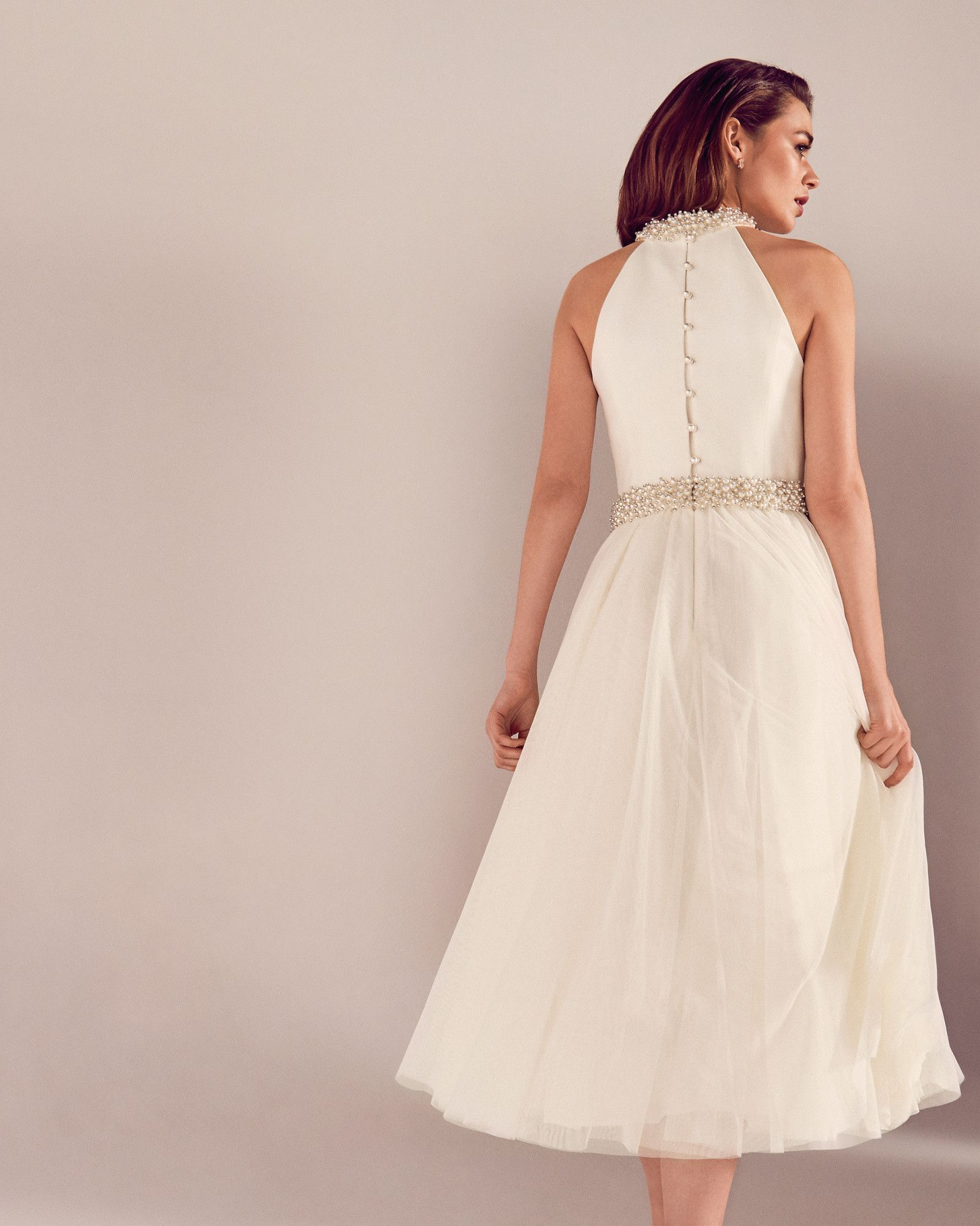Embellished Tulle Bridal Dress White Ss17 Tie The Knot Ted Baker Uk