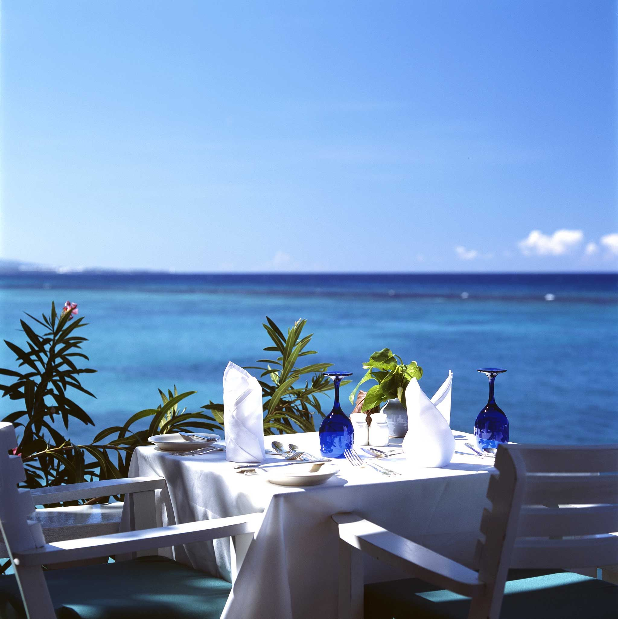 Days at the Jamaica Inn revolve around beach time and meal times — chef Maurice serves classic Jamaican fare.