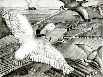 Nils Holgerssons Underbara Resa Genom Sverige Illustration Resa Akvareller