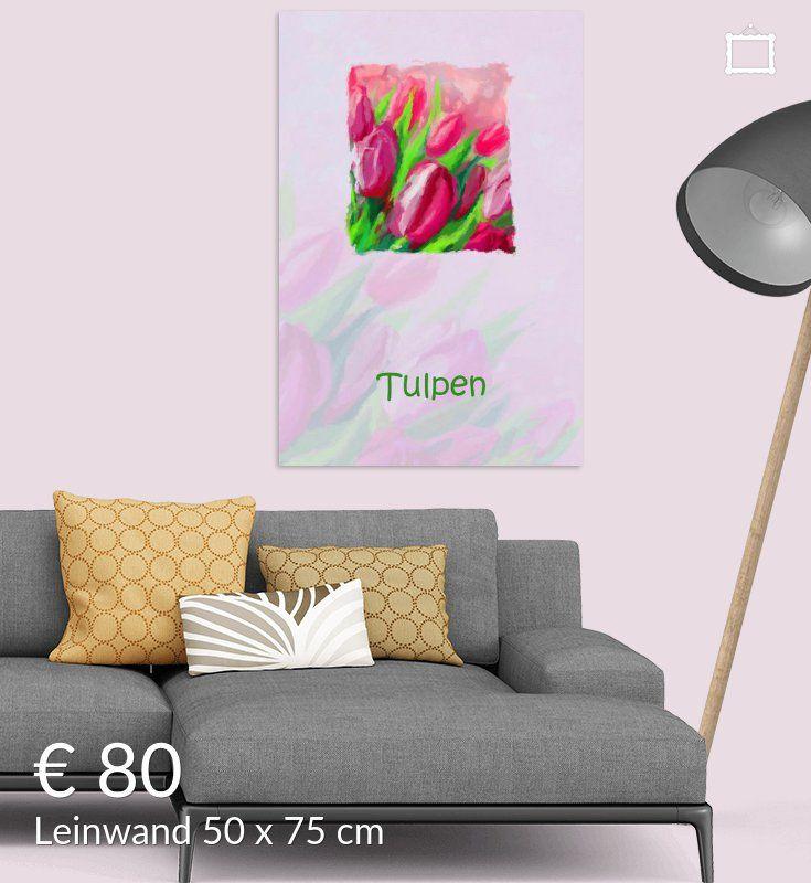 Neu in meiner Galerie bei OhMyPrints: Blumenbild mit Tulpen