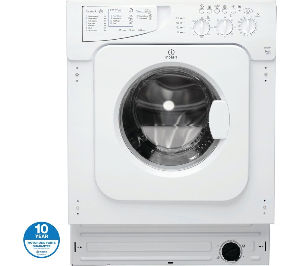 Buy a Indesit IWME127 Integrated Washing Machine online at ...