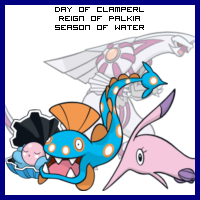 Jan 30: The Day of Clamperl in the Reign of Palkia, Season of Water