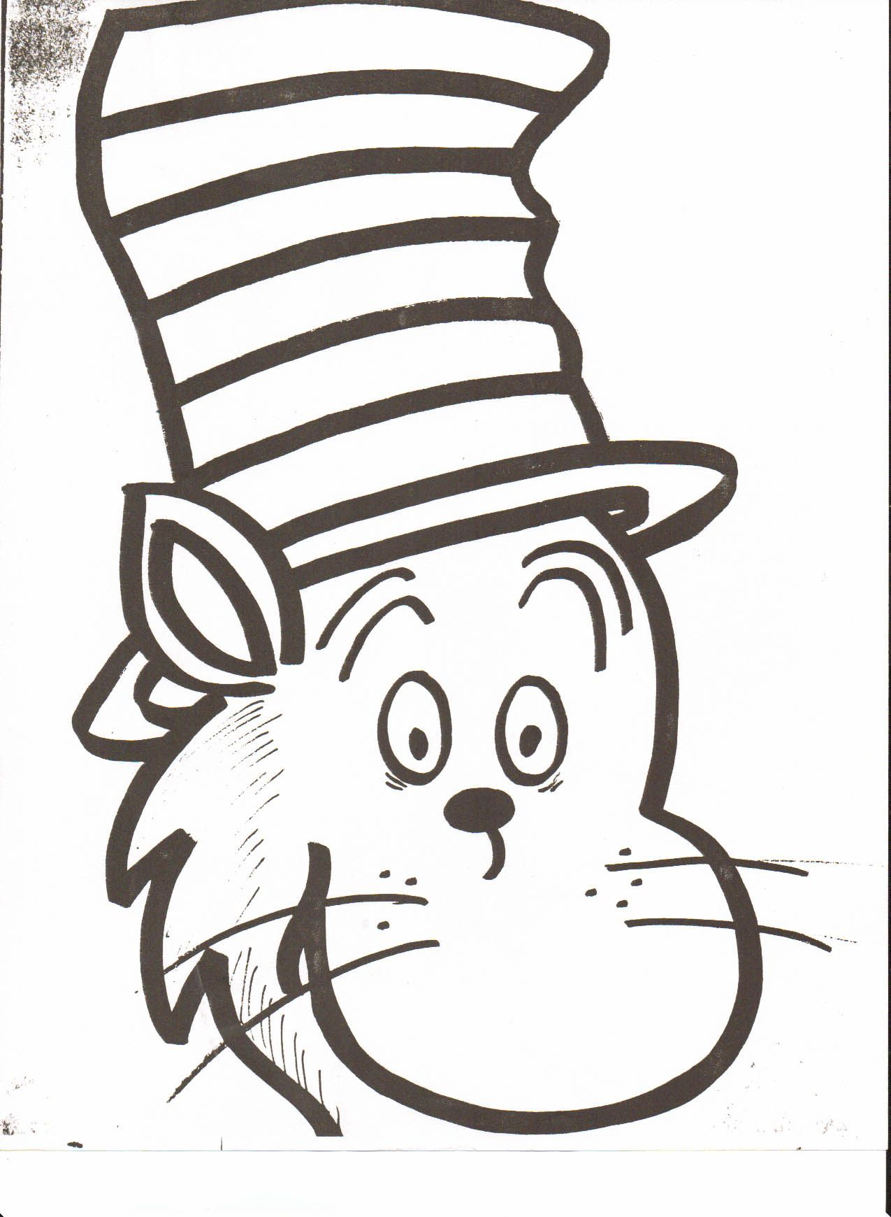 Very Attractive Cat In The Hat Face Printable Dr Seuss