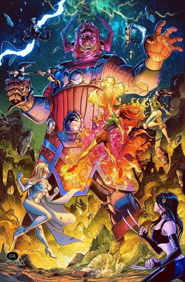 X Men Vs Galactus Marvel Comics Art Galactus Marvel Marvel Artwork