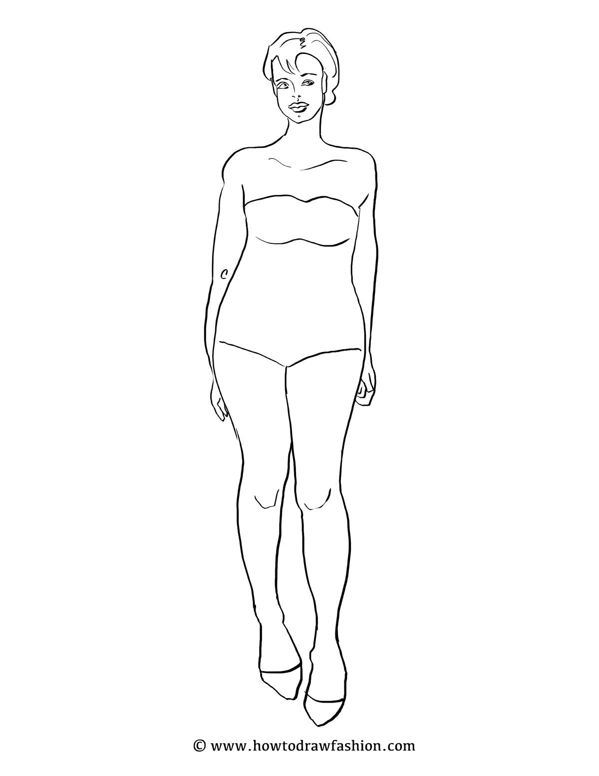 free fashion templates croquis poses runway standing plus