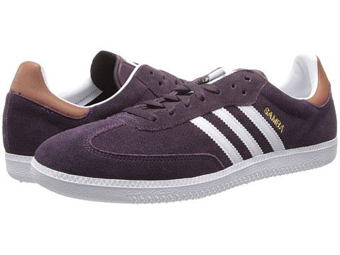 adidas Originals Samba Rich Red/Core White/Gold Metallic - Zappos.com Free
