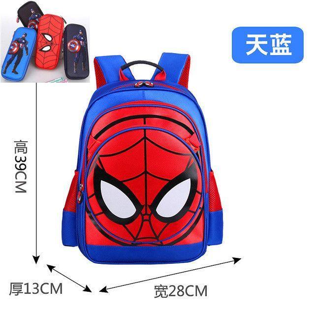 79b715a0ec 3D Spiderman Primary School Kids Backpack Children Spider Man Cartoon  Kindergarten Student Boys Backpacks Daypack Mochila