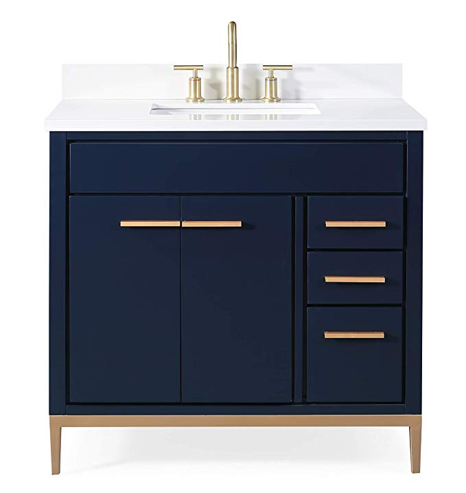 36 Beatrice Modern Navy Blue Bathroom Vanity Tb 9888nb V36 Amazonsmile In 2020 Modern Bathroom Sink Bathroom Sink Vanity Blue Bathroom Vanity