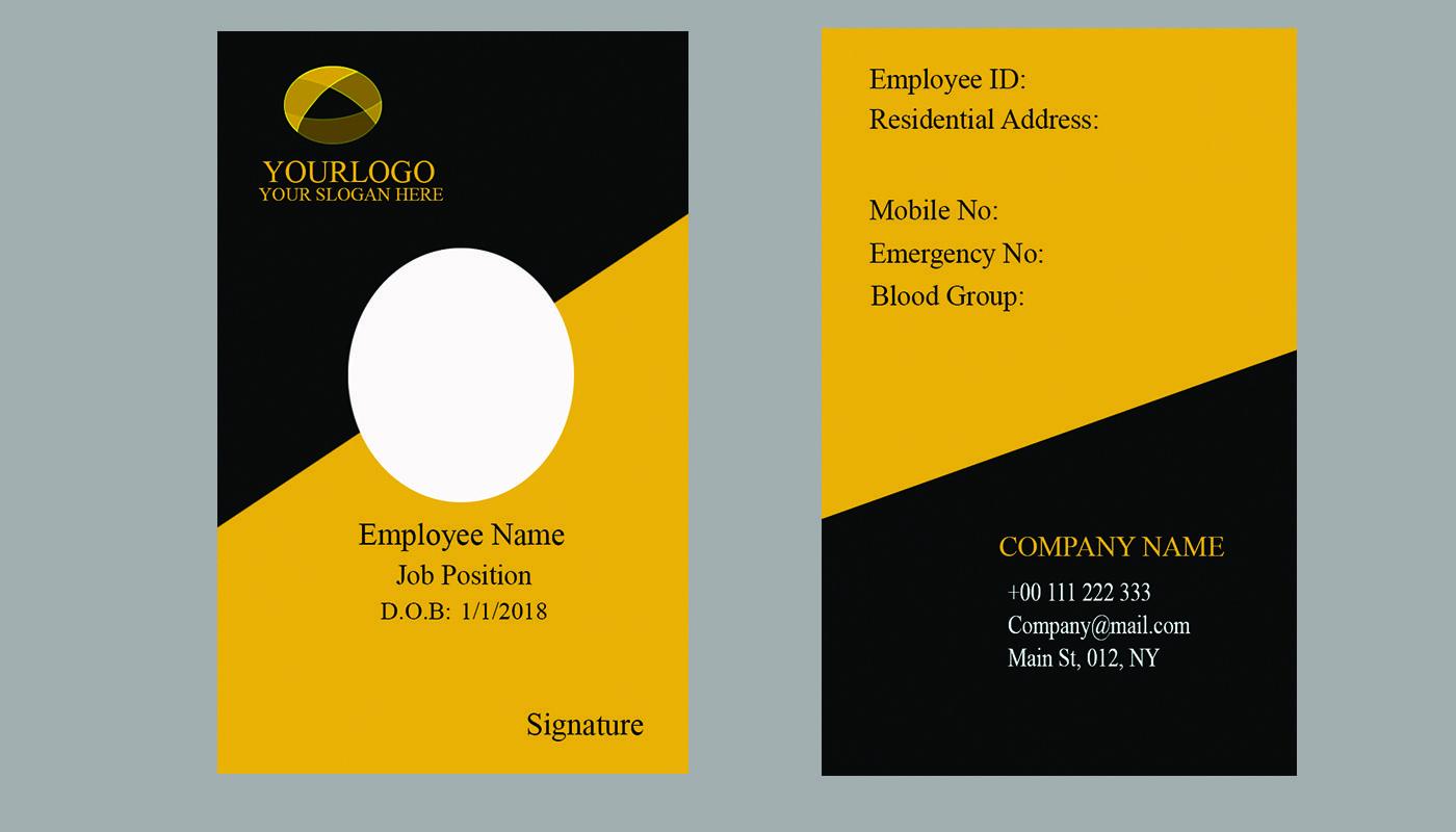 Professional Id Card Design For You Visit Us Yobha In Dengan