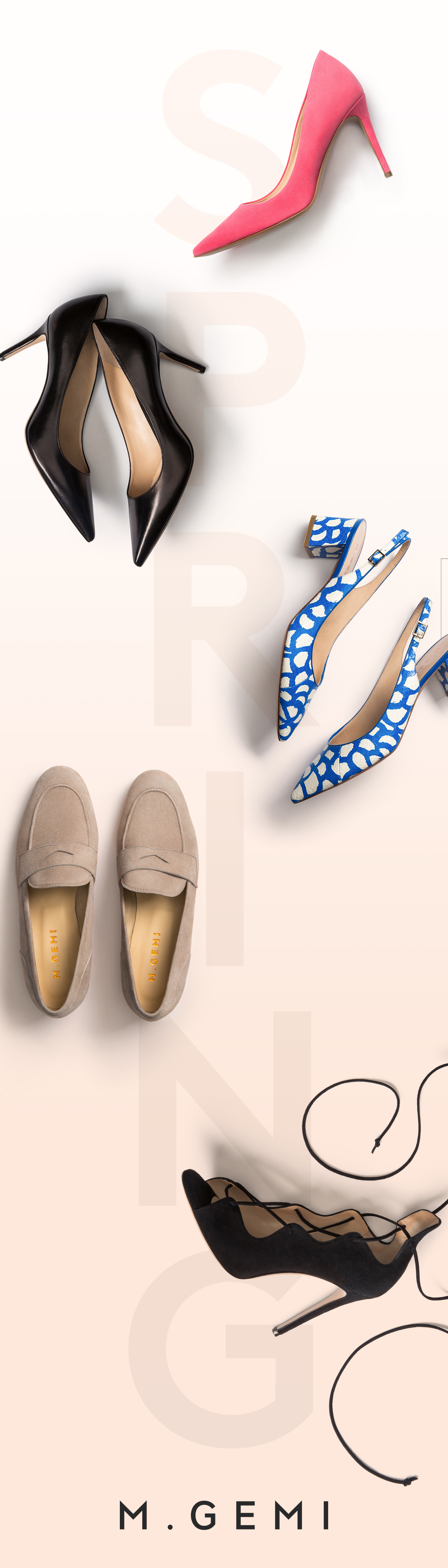 Kick things up for the new season with M.Gemi's refined flats and show-stopping pumps. Put a little spring in your step, go shopping.
