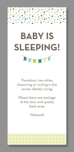 Funny Do Not Disturb Baby Door Hangers  Babies Baby Sleeping