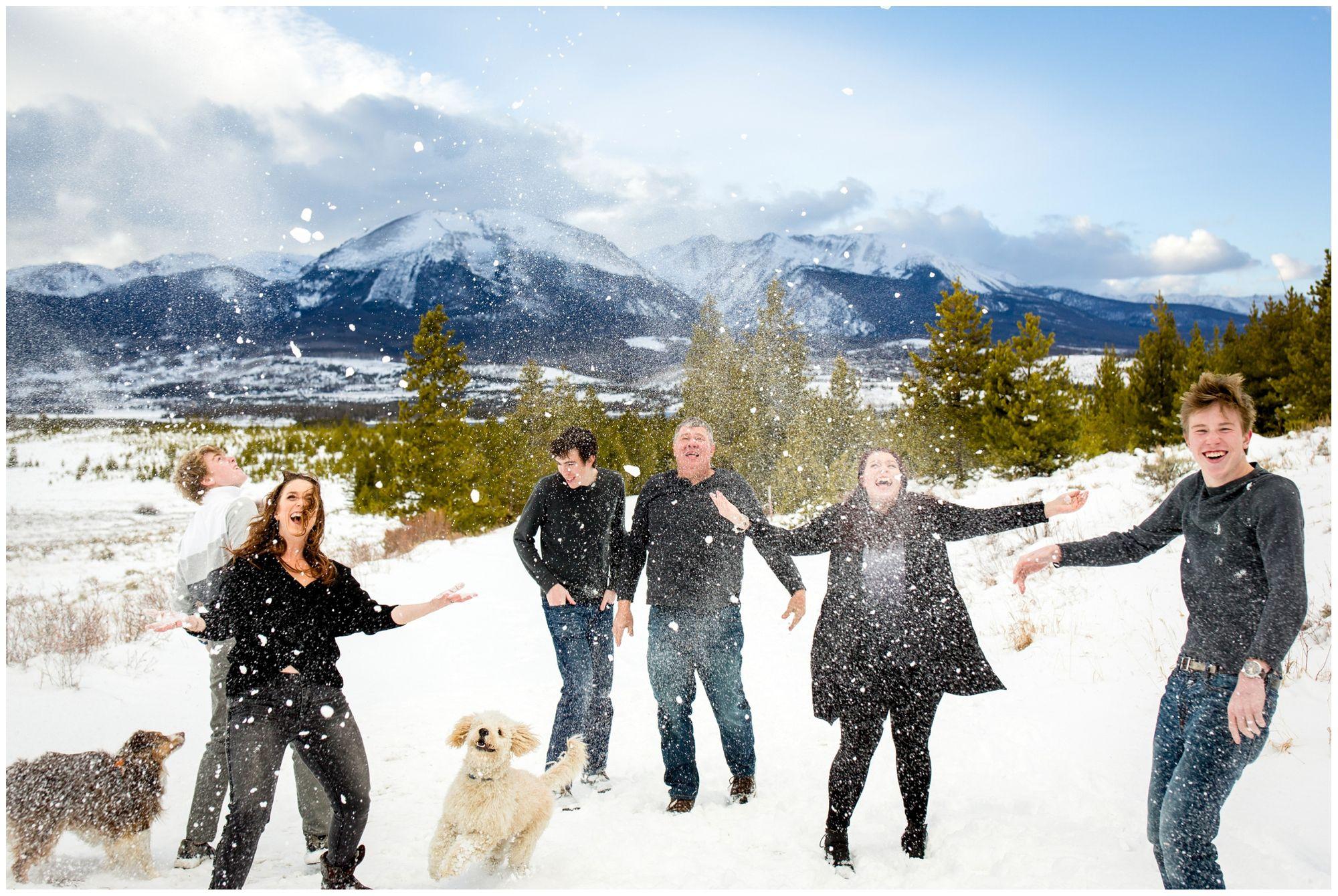 Breckenridge Family Portrait Photographer #winterfamilyphotography