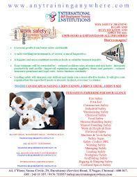Best NEBOSH,IOSH,OSHA,HIGHFIELD,NFPA,NUCO,MEDIC FIRST SAFETY Training institute in chennai