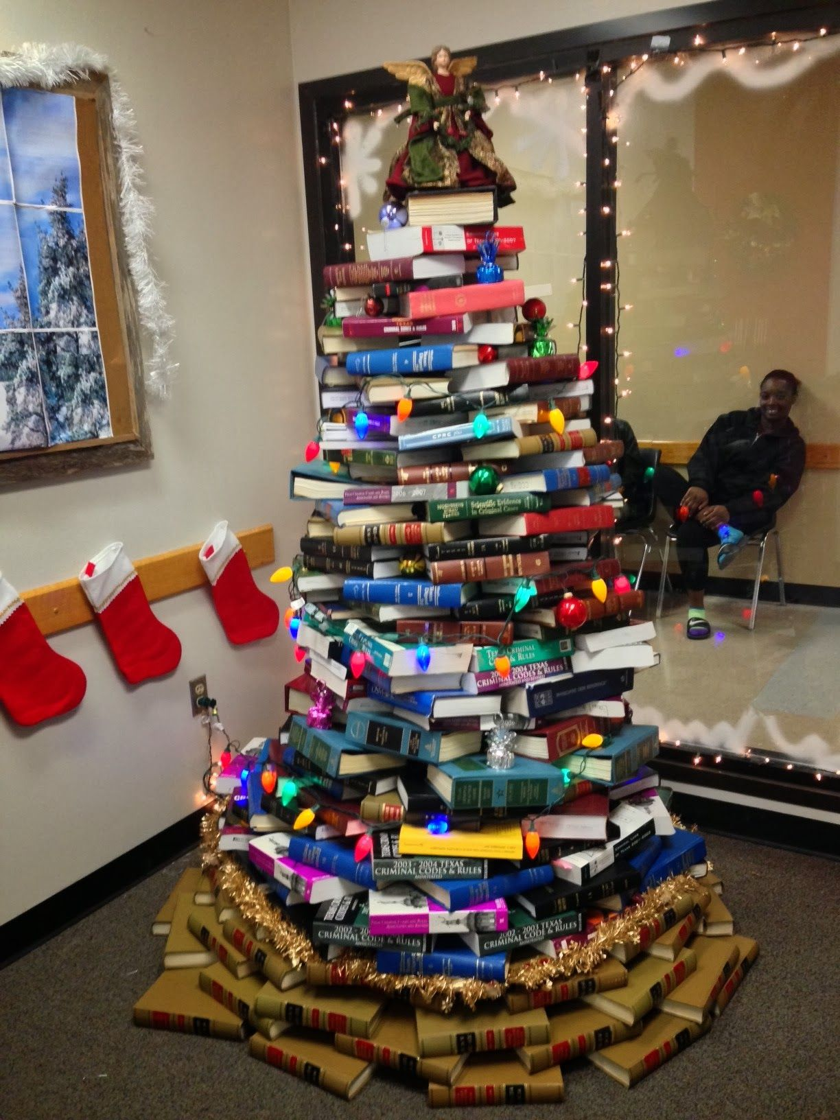 Oh Law Firm >> A Christmas tree made out of law books in the Dallas County public defender's office. | Legal ...