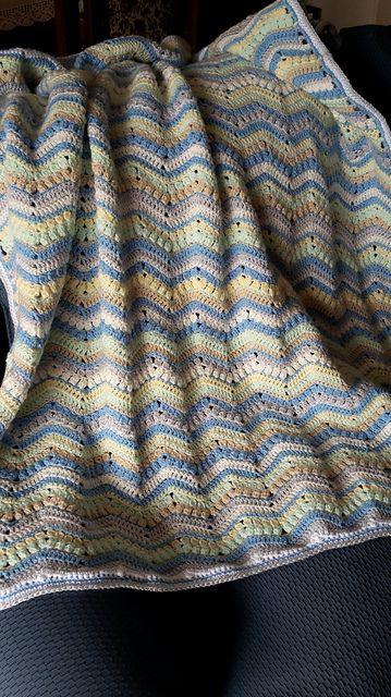 Easy] 6-Day Kid Blanket - Free pattern | Manta de lana, Manta y Lana