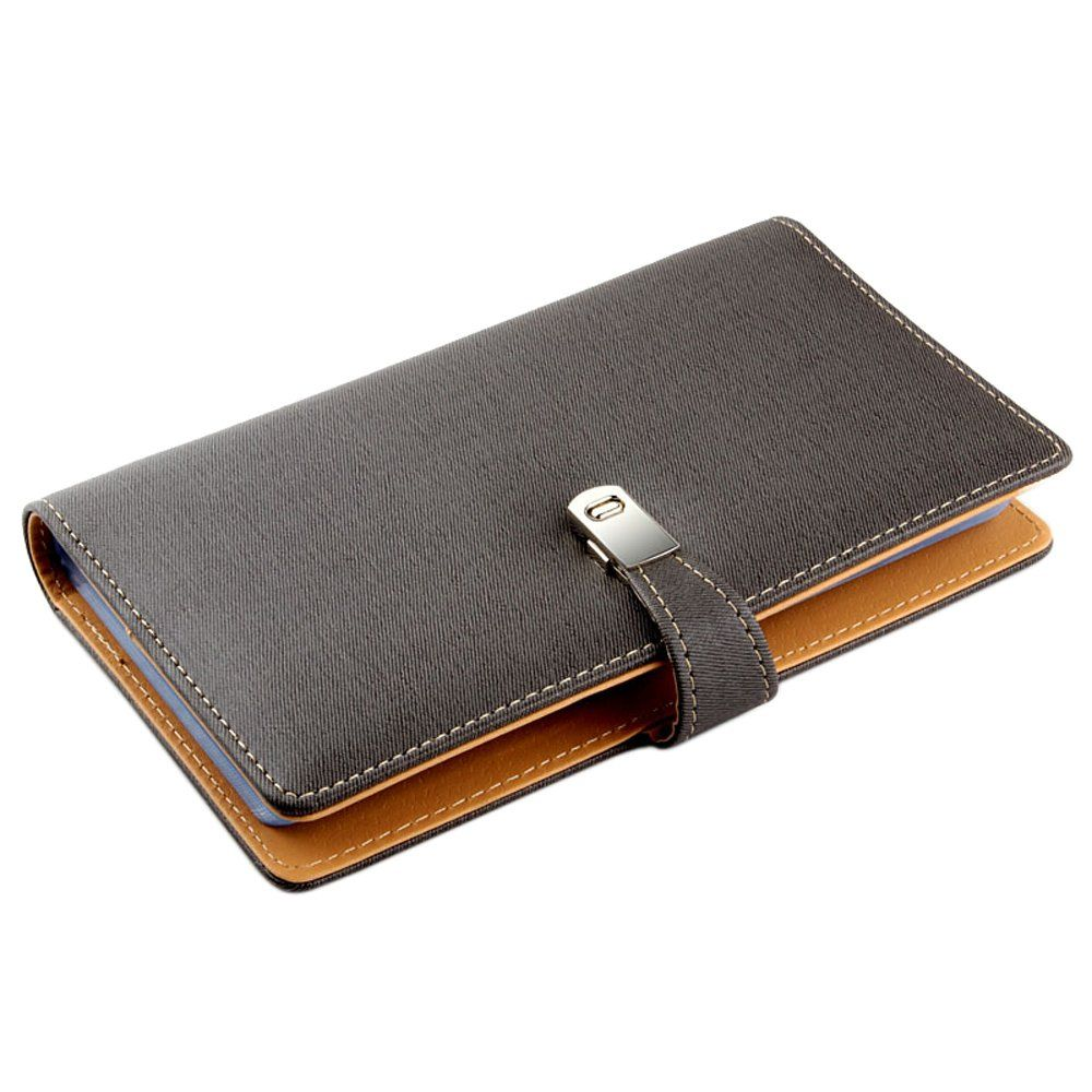 Esdrem Leather Business Card Journal Name Card Book Credit Card ...