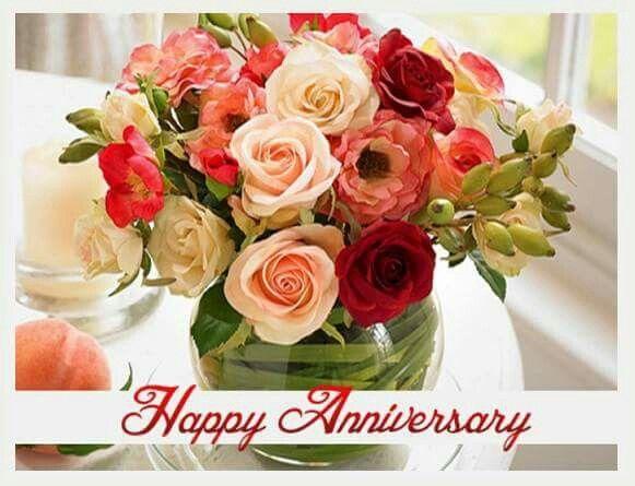happy wedding anniversary flowers
