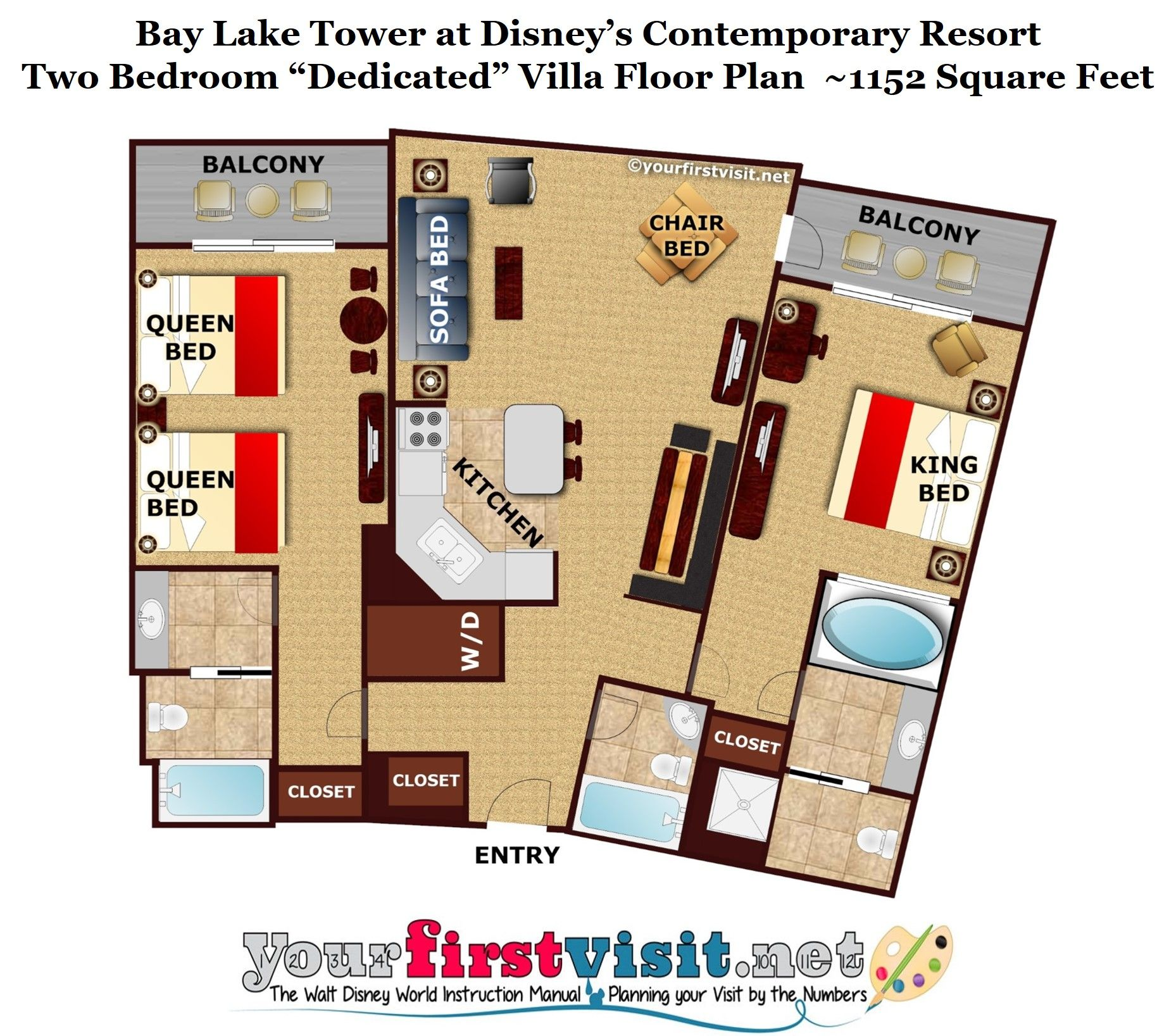 Theming And Accommodations At Bay Lake Tower At Disney S Contemporary Resort Yourfirstvisit Net Bay Lake Tower Disney Bay Lake Tower Disney Contemporary Resort