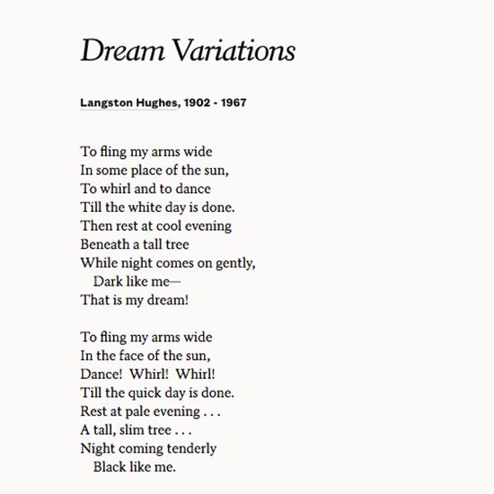 dreams by langston hughes analysis