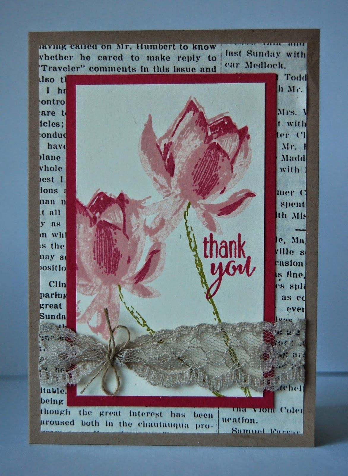 Julie Kettlewell - Stampin Up UK Independent Demonstrator - Order products 24/7: Lotus Blossom - SAB Freebie