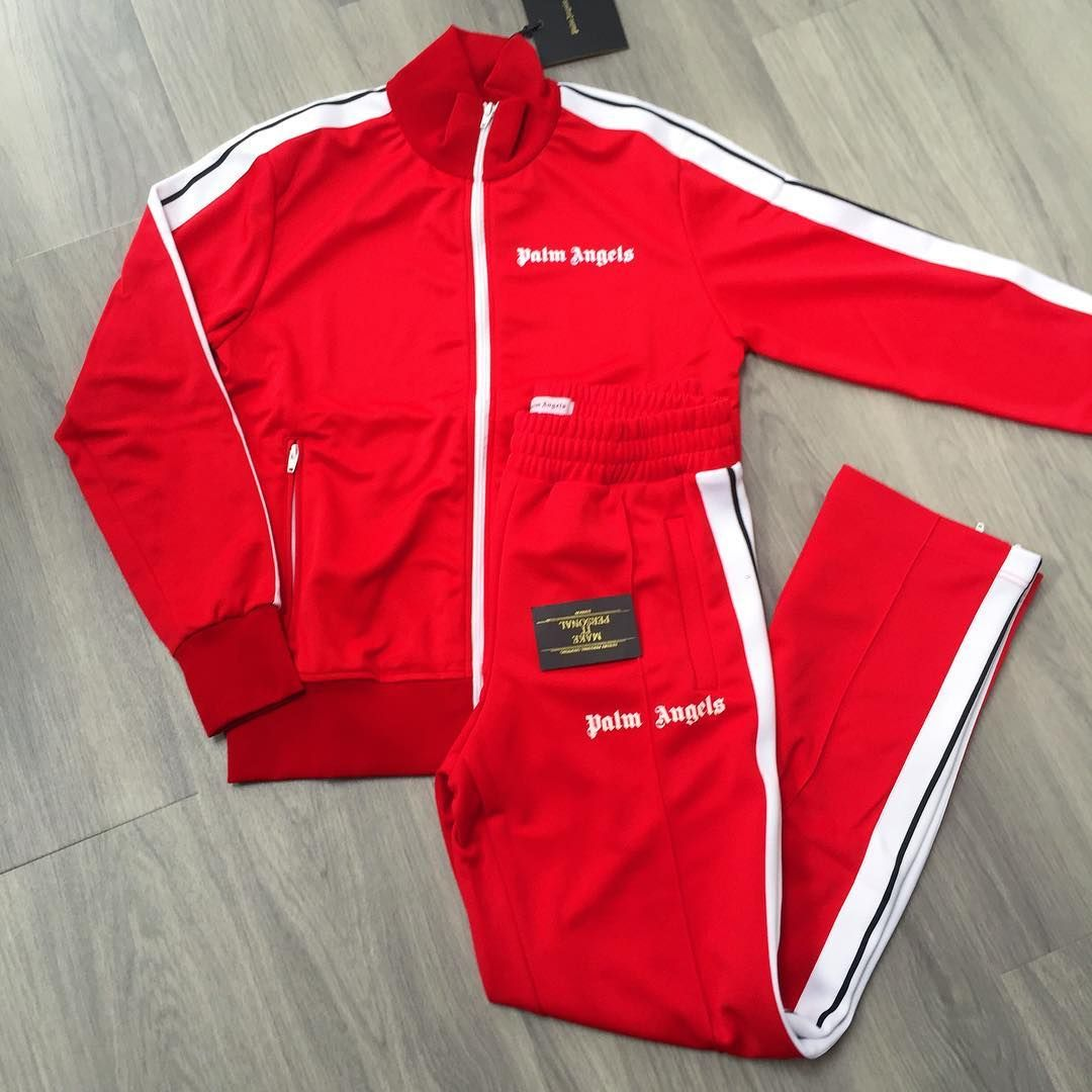 Make It Personal On Instagram Palm Angels Tracksuit In Red Thanks For The Order Off To All Sizes Avai Palm Angels Tracksuit Angel Outfit Palm Angels