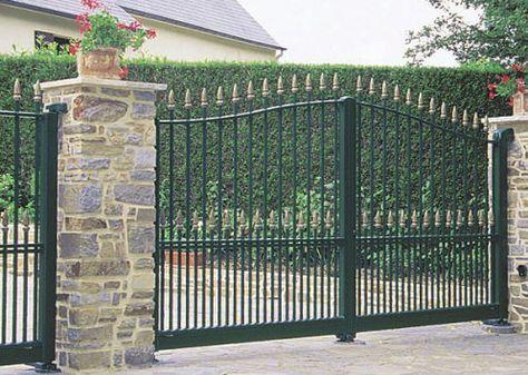 Portones Metalicos Google Search Puertas De Metal Casas De Campo Puertas De Entrada