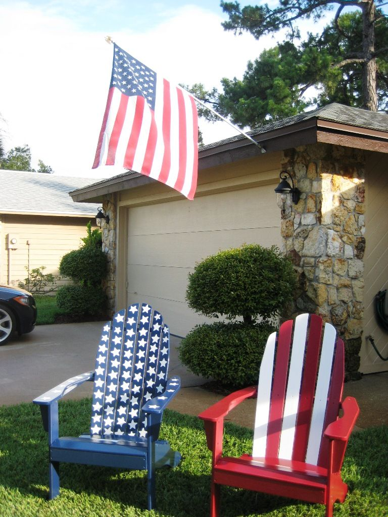 Patriotic Adirondack Chairs My Creations Pinterest