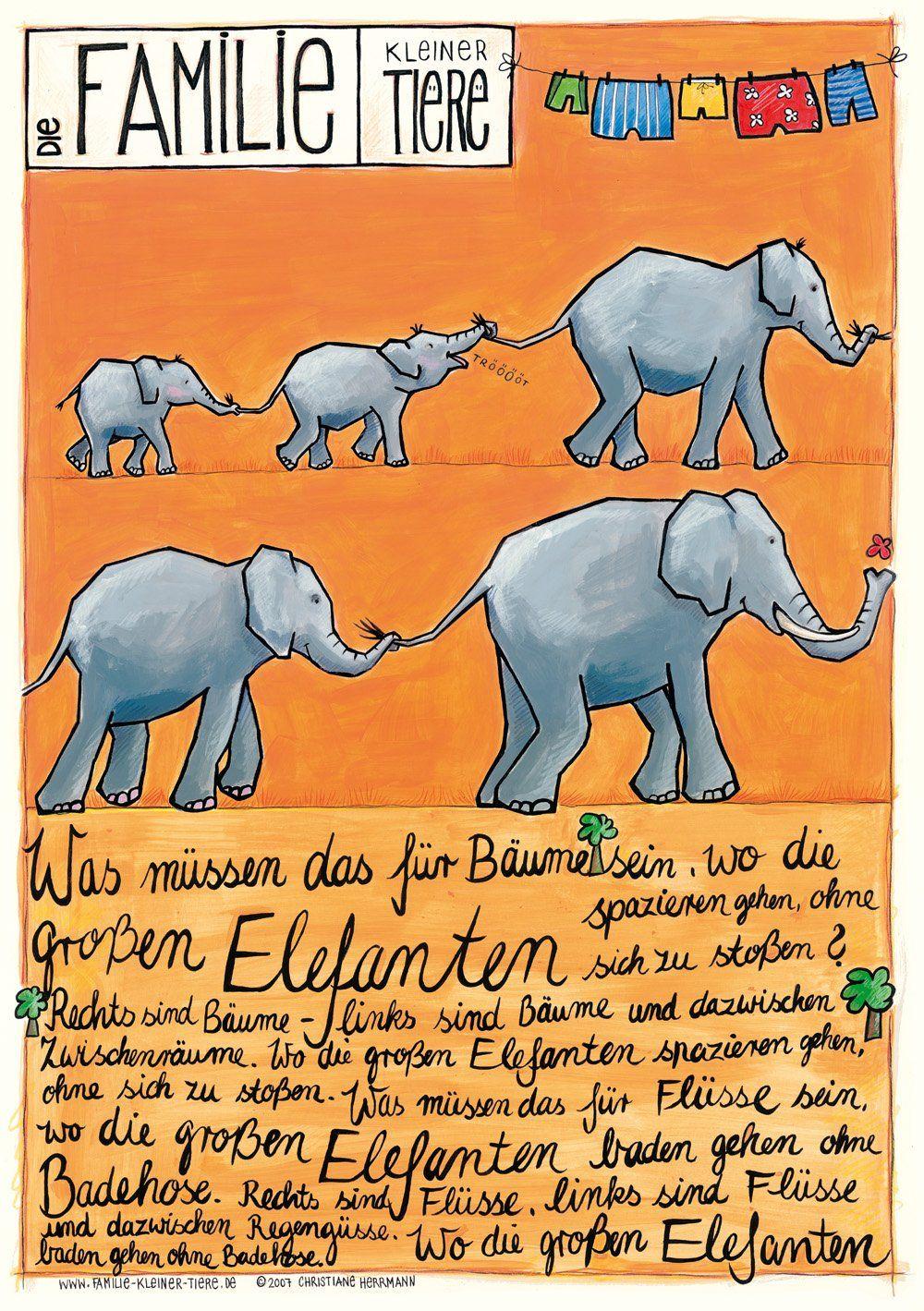 kinderposter mit kinderlied elefanten für baby kinder