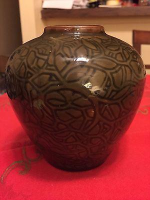 Rare Axel Salto Royal Copenhagen Danish Modern Art Pottery Vase Tree