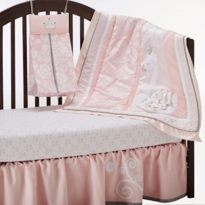 lambs & ivy™ 'swan lake' 4-piece bedding set - sears | sears