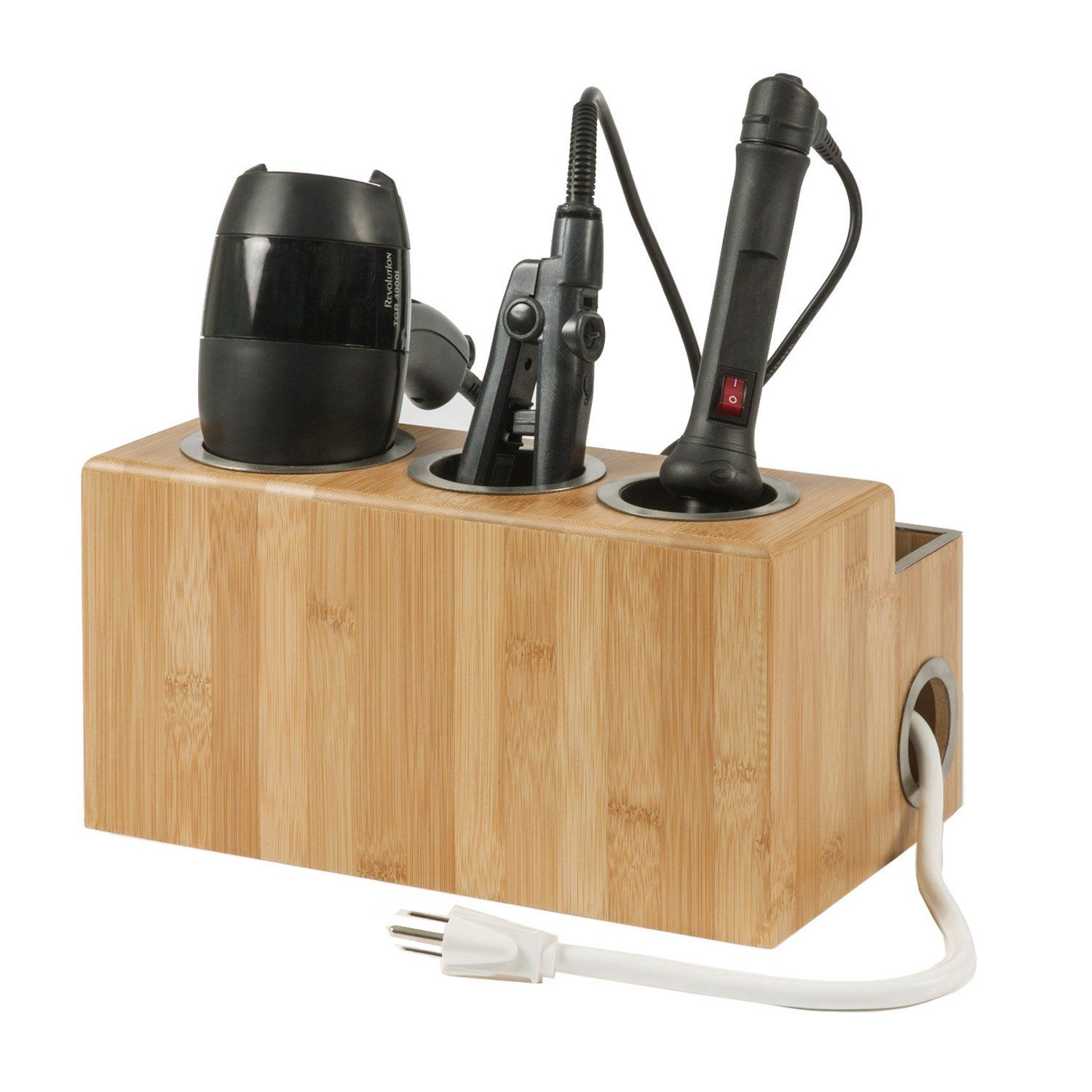 Hair Styling Station And Organizer In 2020 Hair Stations Contemporary Bathroom Accessories Styling Stations