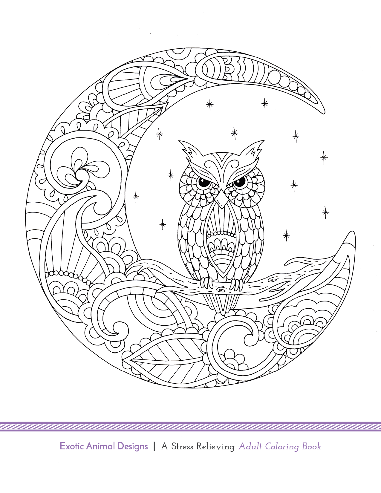 Another free adult coloring book page! Exotic Animal