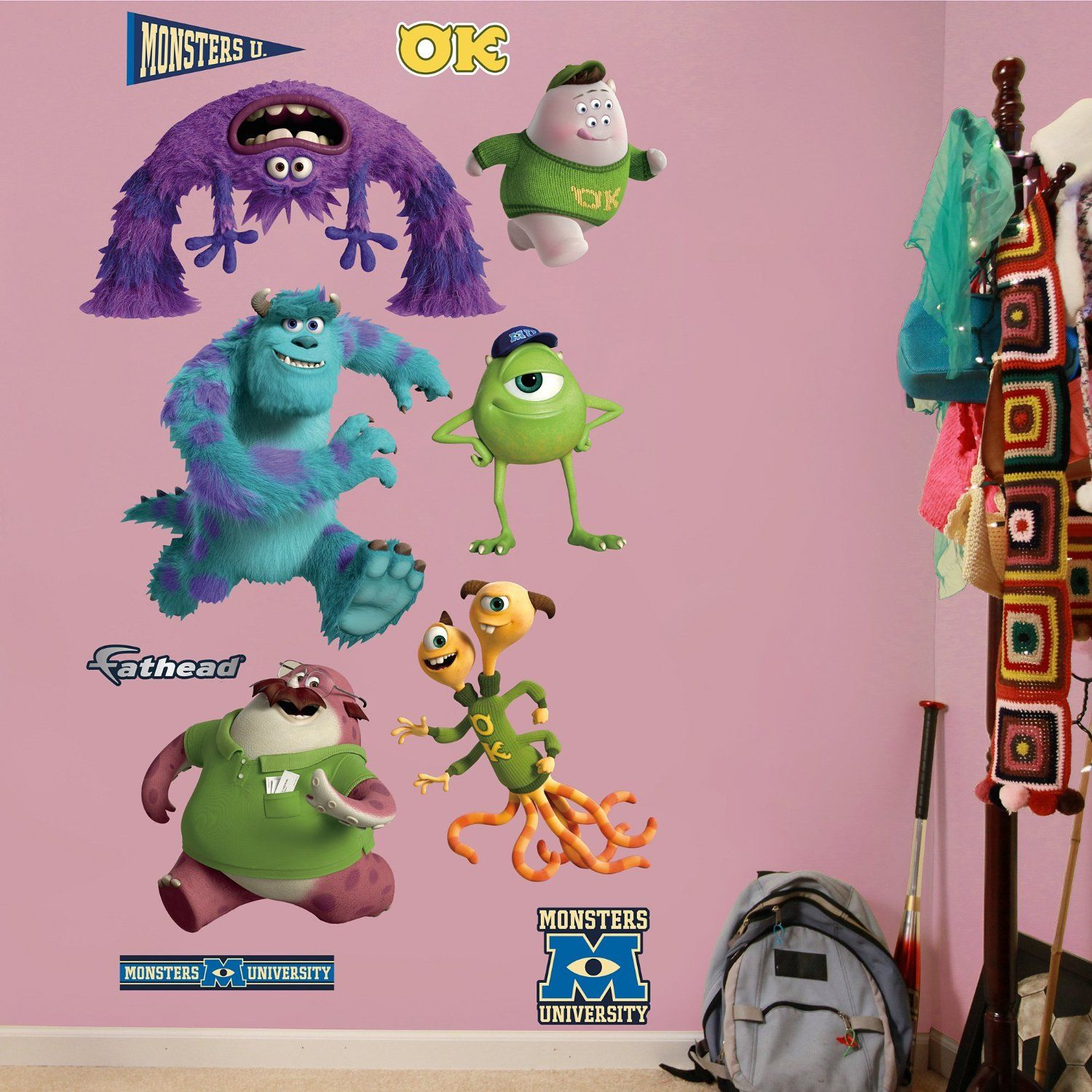 Monsters university wall decal bedroom theme pinterest wall monsters university wall decal amipublicfo Choice Image