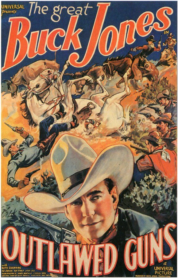 1935 Buck Jones Cult Western movie poster print Border Brigands